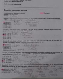 Prova matemática financeira unip ead