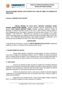 6 Modelo Contestação Direito Processual Civil I