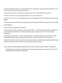 Exercício Biologia molecular