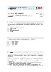 ADMINISTRAÇÃO E OPERAÇÃO DA CADEIA DE SUPRIMENTOS 1