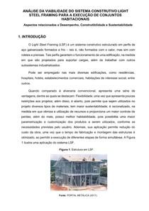 Steel Frame - Desempenho, Construtibilidade e Desempenho