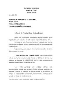 MATERIAL DE APOIO - DIREITO CIVIL  - PARTE GERAL - Apostila 4