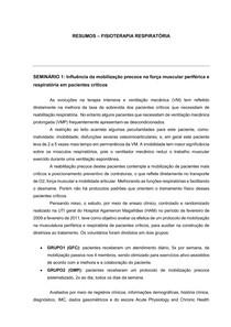 RESUMOS FISIO RESPIRATÓRIA; Parte: 1