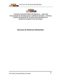 Trabalho sobre Sistemas Distribuidos (respondido)