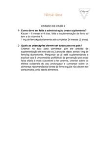 Nutrição clínica- estudo de caso 2