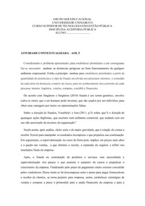 AOL5 - ATIVIDADE CONTEXTUALIZADA - AUDITORIA