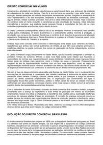 DIREITO COMERCIAL E FUNDAMENTOS INTRODUTÓRIOS
