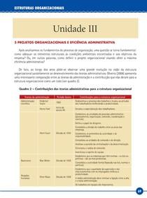 LIVRO   UNIDADE III – ESTRUTURAS ORGANIZACIONAIS