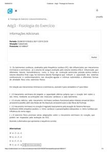 Adg3 - Fisiologia do Exercício