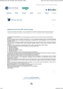 Decreto grupo interministerial GTI