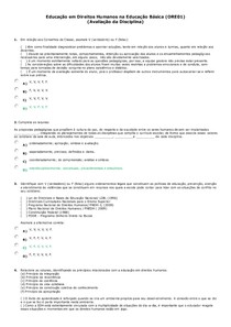 Educação em Direitos Humanos na Educação Básica (ORE01)