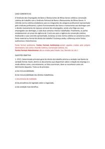 CASO CONCRETO 01   Direito do Trabalho I