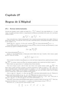Cálculo 1 - capitulo 27 Regras de L'Hôpital - Waldecir Bianchini