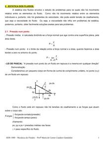 Estatica dos fluidos