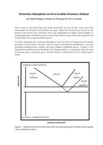 Elementos Indesejáveis no Ferro Fundido Cinzento e Nodular