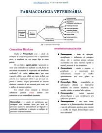 Conceitos Básicos - Farmacologia Veterinária