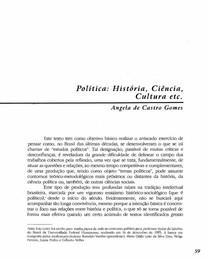 02. Política - história ciencia cultura etc - Angela de Castro Gomes - TENHO