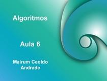 Algoritmos Aula 06