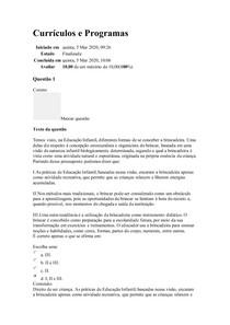 Currículos e Programas - EXERCICIO DE FIXAÇÃO III