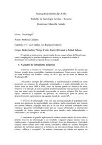 Resumo - Cap. 18 (GIDDENS  Anthony. Sociologia) - Turma B