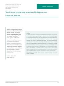 Amostras biologicas forense