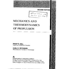 Hill Peterson - Mechanics and thermodynamics of propulsion (1992)