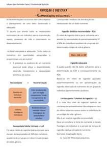 NUTRIÇÃO E DIETÉTICA - CARBOIDRATOS, PROTEÍNAS E LIPIDEOS
