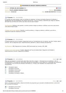 BDQ Prova - Paradigmas de Análise e Desenvolvimentos