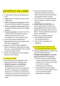 GENÉTICA DA CÁRIE odontogen