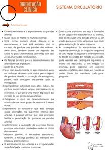 Orientação Clínica - Sistema Circulatório