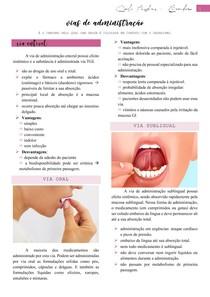 Vias de administração (via enteral, via parenteral e via tópica) - Farmacologia