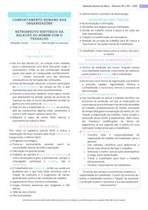 Resumo NP1 e NP2 - Comportamento Humano nas Organizações