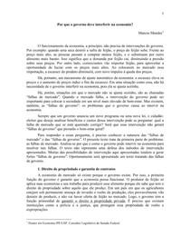 Marcos Mendes - Falhas de Mercado