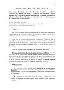 DIREITO FINANCEIRO E TRIBUTÁRIO  – PONTO 14.
