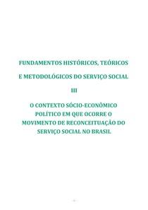 Fundamentos historicos,teoricos e mtodologicos do serviço social 3