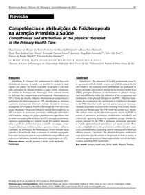 Competências e atribuições do fisioterapeuta na atenção primária