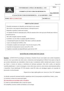avaliação biomedica
