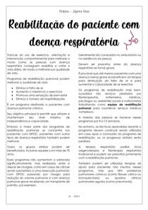 Reabilitação do paciente com doença respiratória