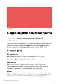 Negócios jurídicos processuais