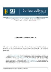 Jurisprudência em Teses 136 - Conselhos Profissionais - II
