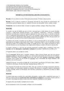 Representação e análise da informação