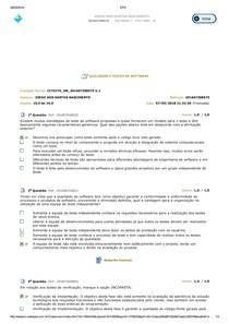 Avaliação parcial Qualidade e testes de software 1