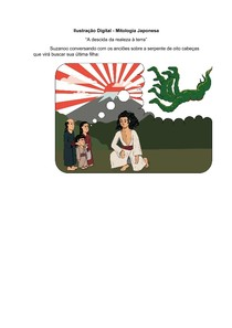 Ilustração Digital - Mitologia Japonesa