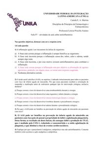 Farmacologia - aula 07 - AINEs