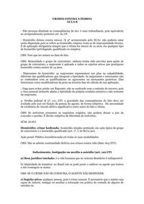 CRIMES CONTRA A PESSOA AULA 8