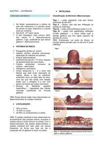 CÂNCER GÁSTRICO - GASTROENTEROLOGIA