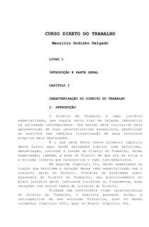 Curso de Direito do Trabalho  - Maurício Godinho Delgado - 2012 completo