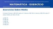 Matemática - Média Ponderada