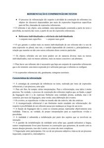 REFERENCIAÇÃO E COMPREENSÃO DE TEXTOS