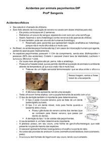 Acidentes por animais peçonhentos DIP Profº Sangenis